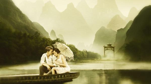 romantischeliebe inspiration - zwei geliebten in einem boot
