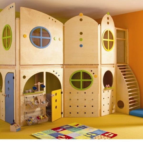 Holzschloss Spielhaus Für Drinnen Indoor Spielplatz Ideen Zur