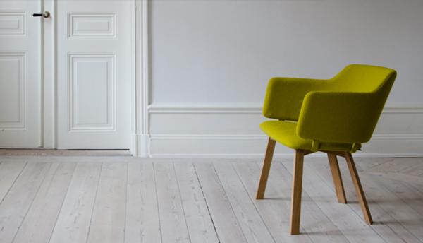 schwedisches Möbel - eleganter grüner stuhl