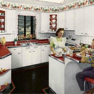 28 verblüffende Ideen für vintage Küche!