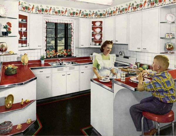 weiße vintage küche gestalten