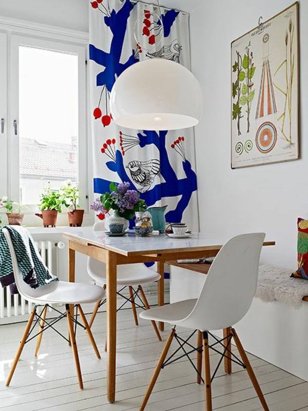 innendesign-esszimmer-einrichten-wunderschöne-gestaltung-holzbank-- Sitzbank im Esszimmer
