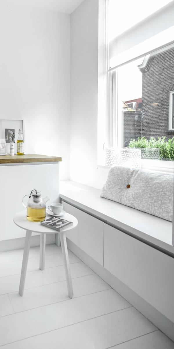 innendesign-esszimmer-einrichten-wunderschöne-gestaltung-holzbank-weiß