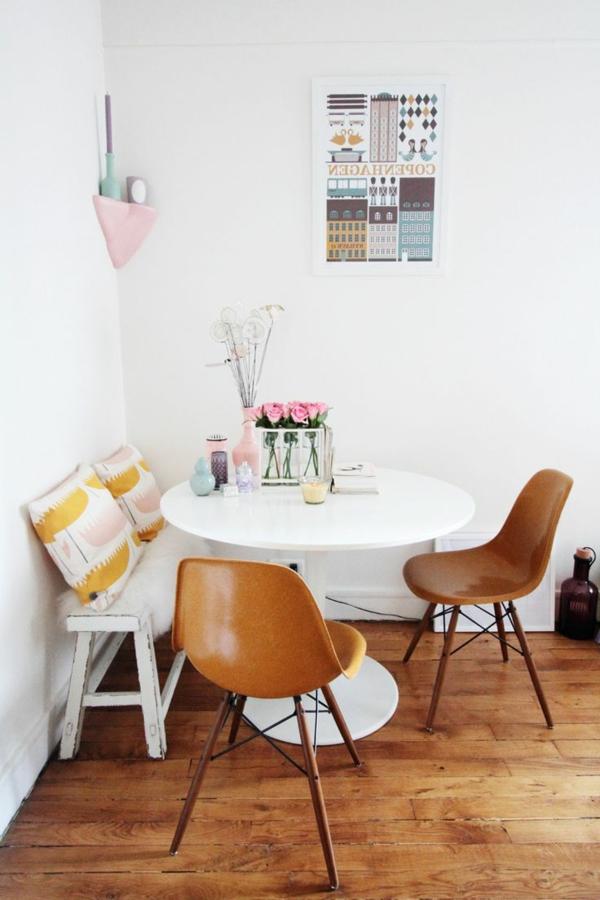 innendesign-esszimmer-einrichten-wunderschöne-gestaltung--holzbank Sitzbank im Esszimmer