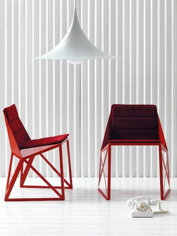 interior-design-idee-möbel-rote-designer-stühle-stuhl-design