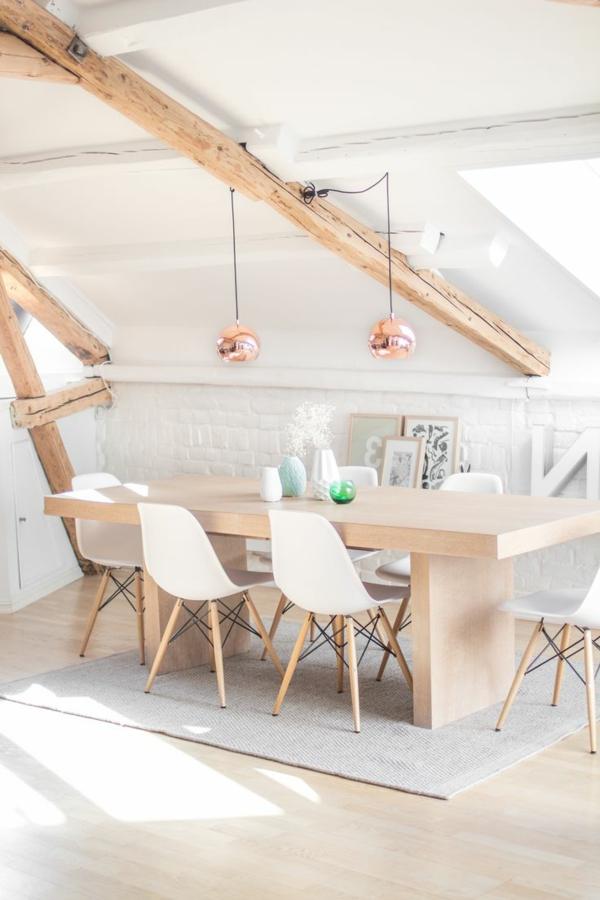 interior-design-ideen -design-esszimmermöbel -wohnideen-dachgeschoss-einrichten