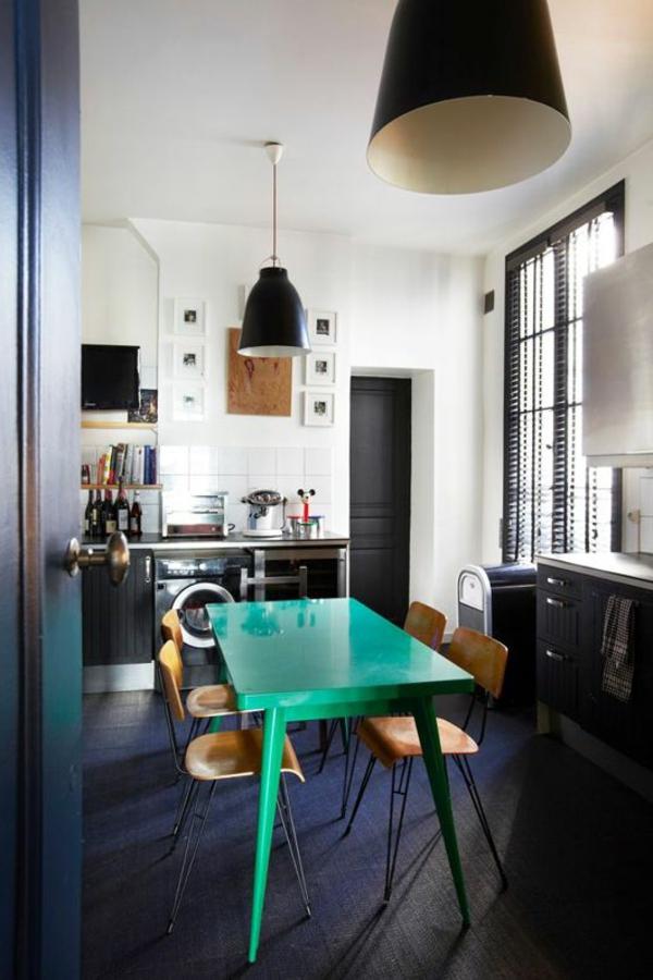 interior-design-ideen -design-esszimmermöbel -wohnideen-grüner-esstisch