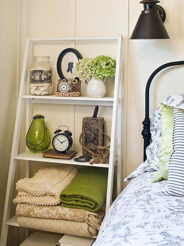 interior-design-ideen-leiter-holz-in-weiß--im-wohnzimmer