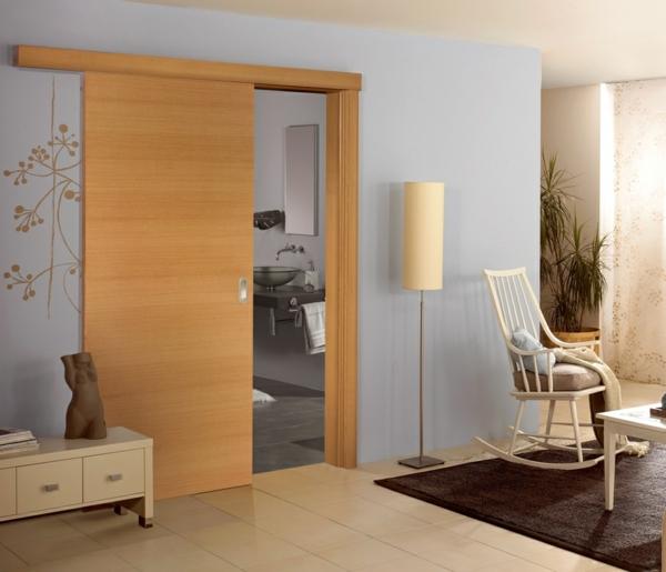 interior-design-ideen-retro-holztüren-schiebetüren-