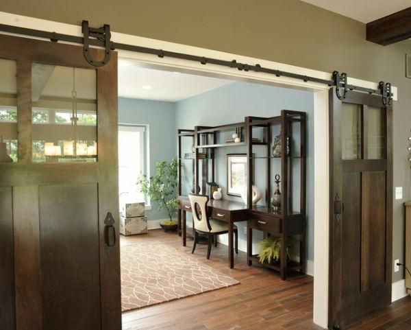 interior-design-ideen-retro-holztüren-schiebetüren.