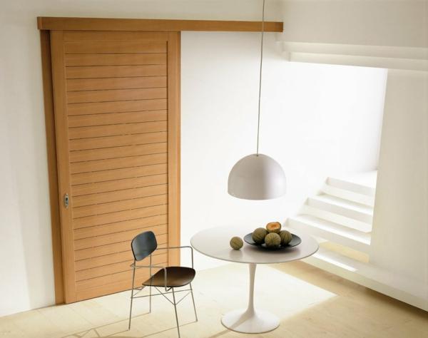 interior-design-ideen-retro--holztüren-schiebetüren