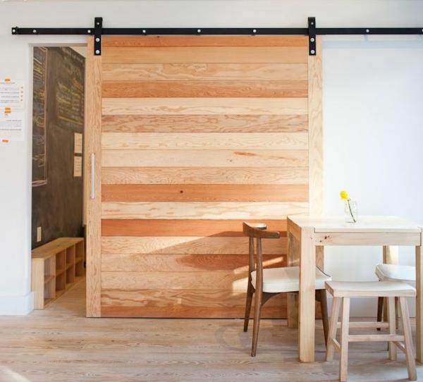 -interior-design-ideen-retro-holztüren-schiebetüren