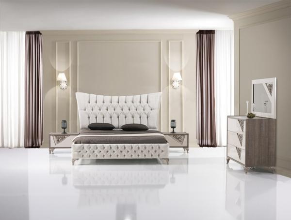 Luxus schlafzimmer komplett  Schlafzimmer Wandfarbe Braun