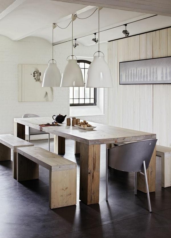 interior-design-ideen-sitzbank-holz-im-esszimmer-esszimmertisch-und-stühle