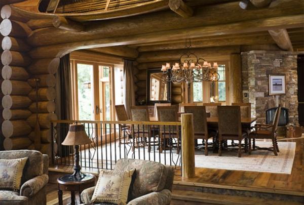 landhaus dekoration - große gestaltung vom wohnraum