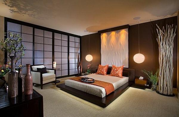 japanische-schiebetüren-im-eleganten-schlafzimmer- ein sehr schönes und cooles bild