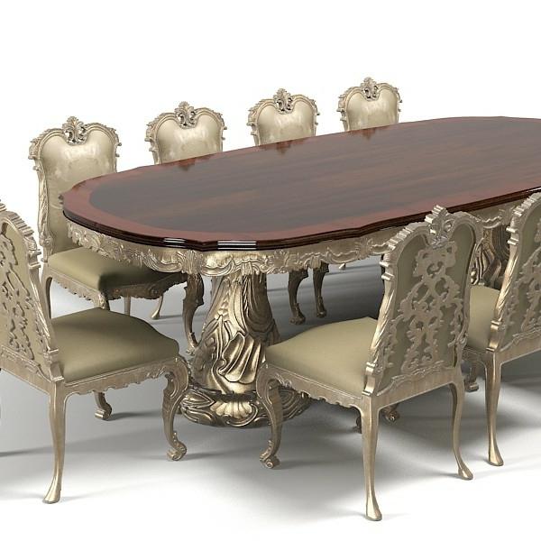barocktisch - großzügiger massiver tisch fürs esszimmer