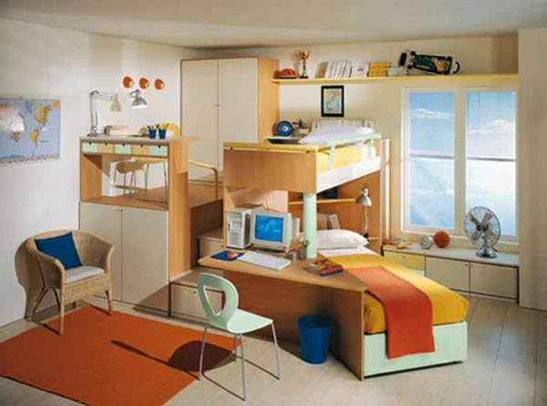 Vorschlage Gestaltung Kinderzimmer :  mitschreibtisch  moderne und praktische kinderzimmer gestaltung