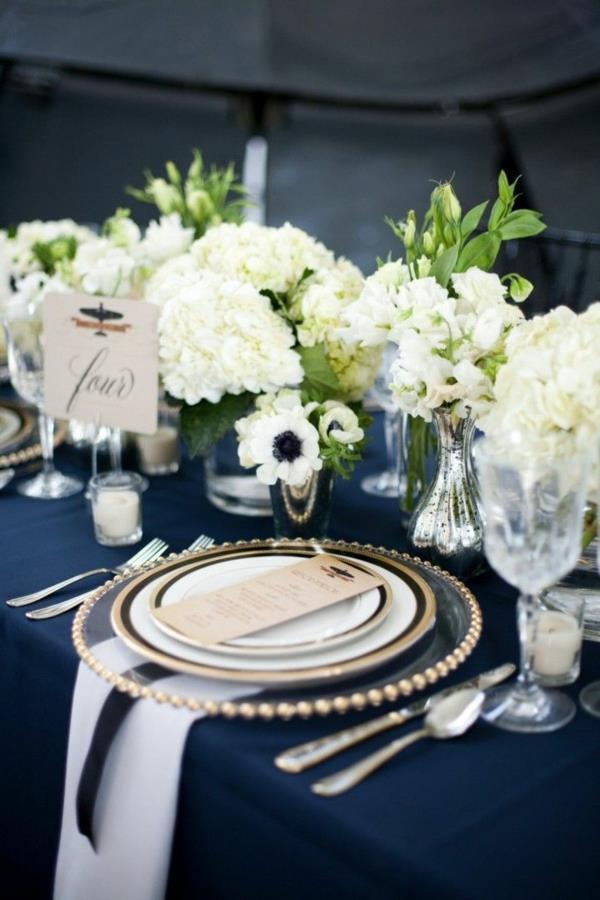 Tischdeko In Blau Faszinierende Ideen Archzine Net