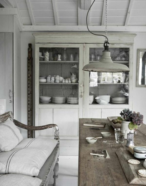 Landhausmöbel Vintagemöbel Vintage Esszimmer Tolle Einrichtungsideen  Weiß  Esszimmer Im Landhausstil ...