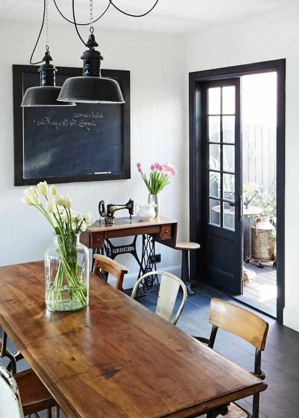 esszimmer im landhausstil 50 wunderbare ideen. Black Bedroom Furniture Sets. Home Design Ideas