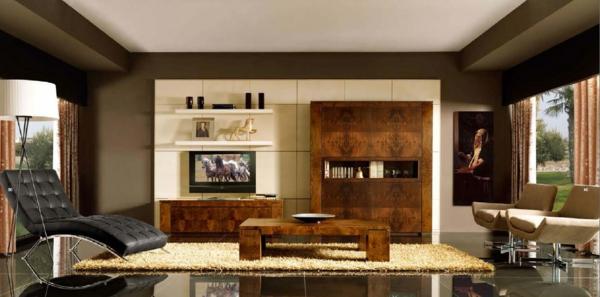 art deco stil -  schickes modell vom liegestuhl im wohnzimmer