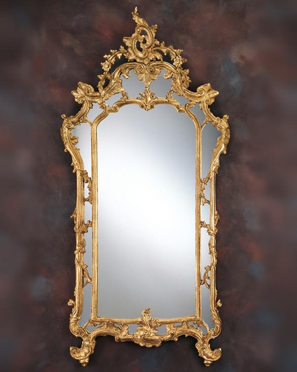 barock spiegel - cooles design an einer interessanten wand