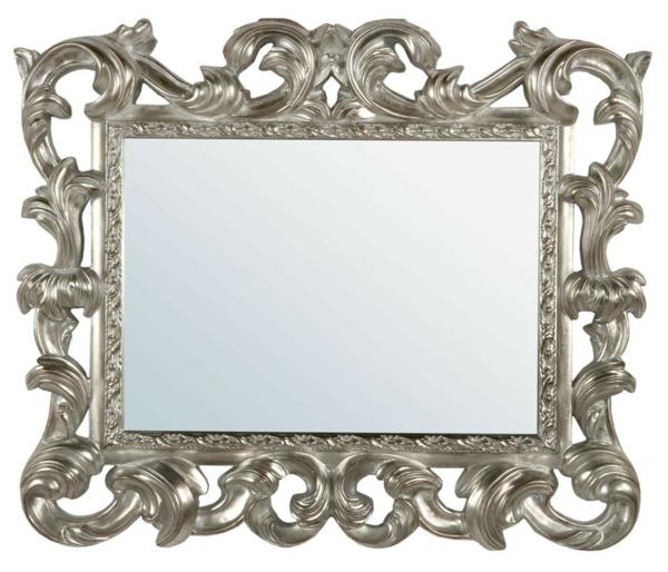 barock spiegel - weißer hintergrund