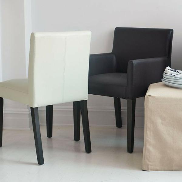 50 wundersch ne beispiele f r lederst hle f r esszimmer. Black Bedroom Furniture Sets. Home Design Ideas