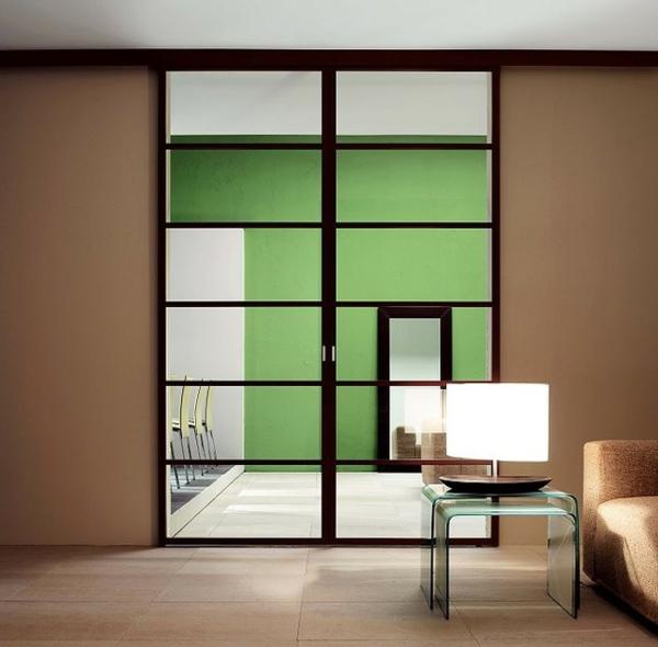 Moderne Glastüren Innentüren Wohnzimmer Gestalten