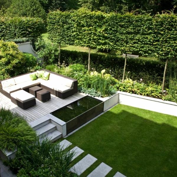 Sitzecke im garten relax im gr nen - Vorgartengestaltung modern ...