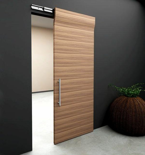 moderne-schiebetüren-holz-moderne-innentüren-holz-gleittüren-design-idee-Schiebetüren aus Holz