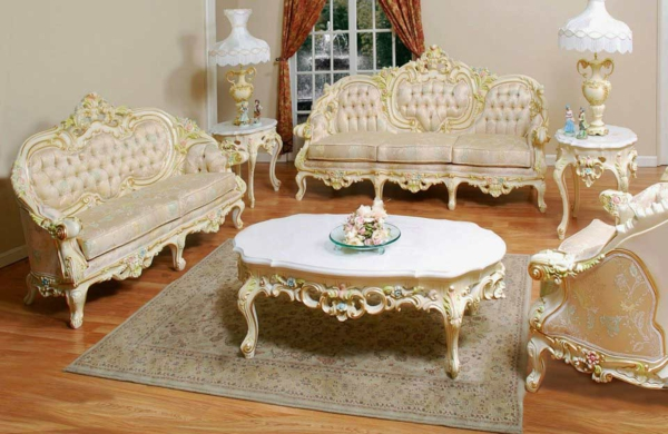 barocktisch - im wunderschönen barock wohnzimmer
