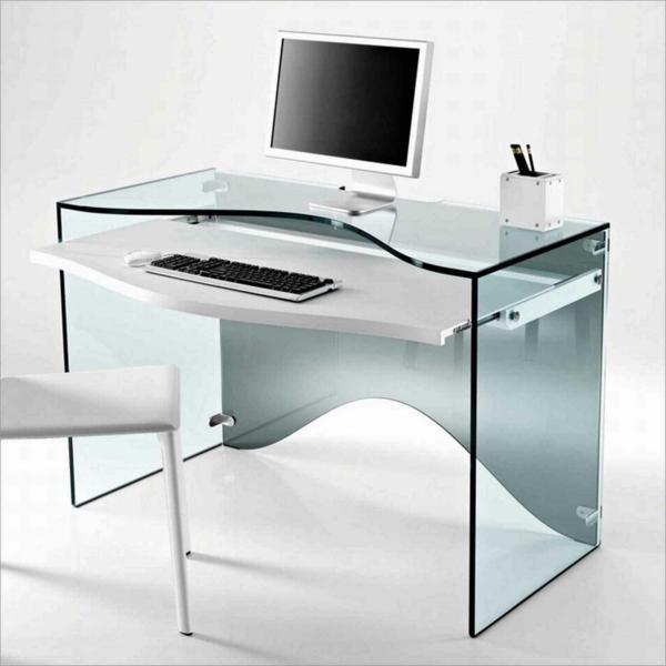designerschreibtisch - modell aus glas - sehr modern
