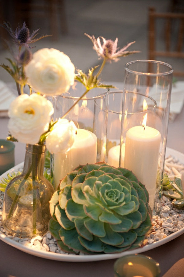 Hochzeitskerzen romantische warme licht for Moderne tischdeko