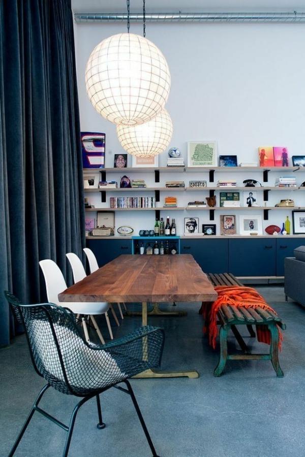 originelles-interior-design-ideen-sitzbank-holz-im-esszimmer