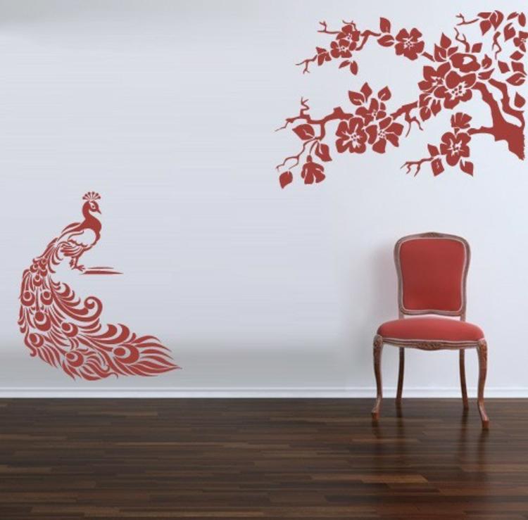 wandtattoo als baum - die schönsten besispiele - archzine.net - Deko Baum Wand