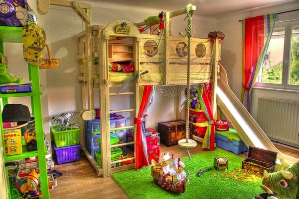 Indoorspielplatz erstaunliche ideen zur inspiration for Piraten kinderzimmer komplett