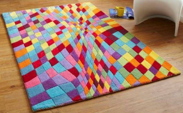Teppich in bunten Farben - super schönes modell