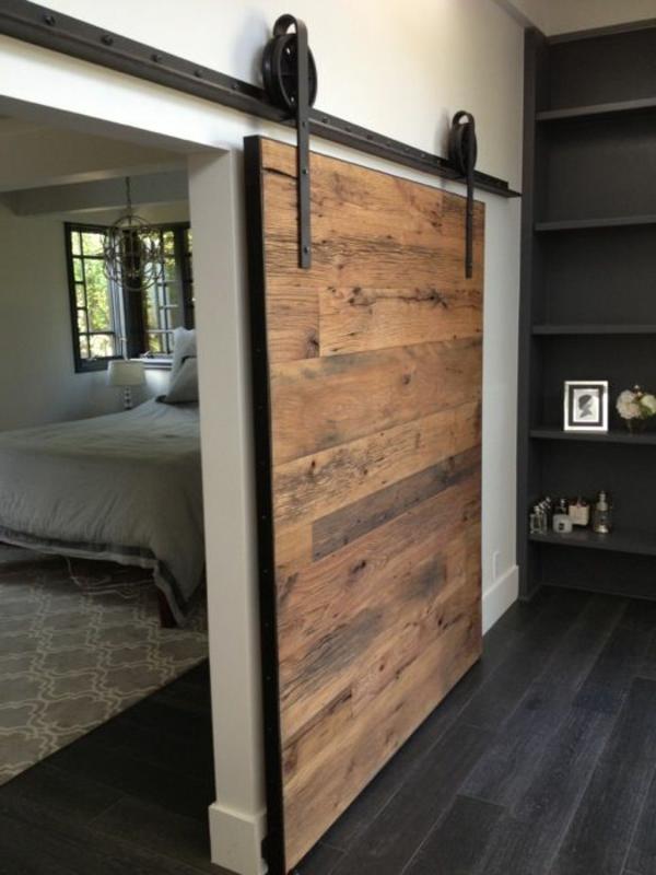 SchiebetUren Holz Innen Laufend ~ retro design holztür innen interior design ideen moderne ambiente