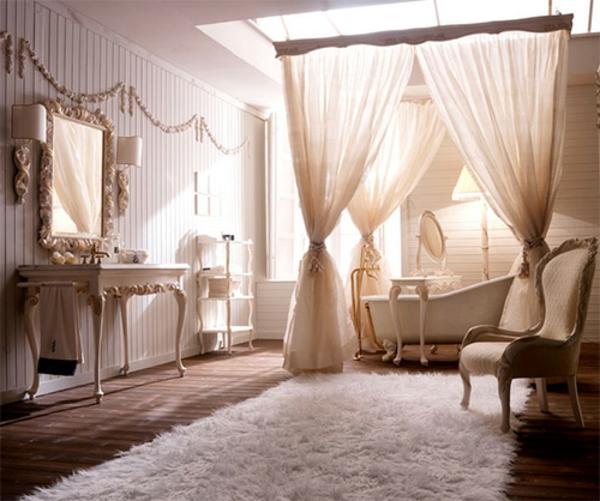 romantischeliebe inspiration - elegantes badezimmer mit durchsichtigen gardinen