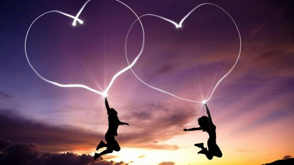 romantische liebe inspiration - interessantes foto von zwei geliebten