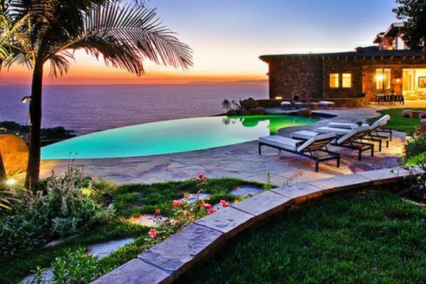 romantische liebe inspiration - exotische pool gestaltung