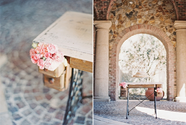 romantische liebe inspiration - wunderschöne dekoration mit rosigen rosen