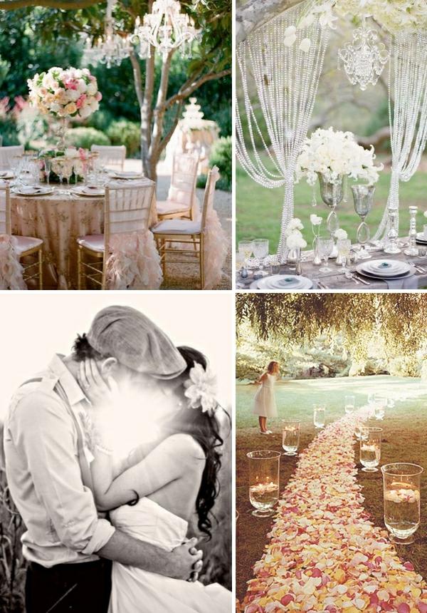 romantischeliebe inspiration - wunderschöne helle dekoration für draußen