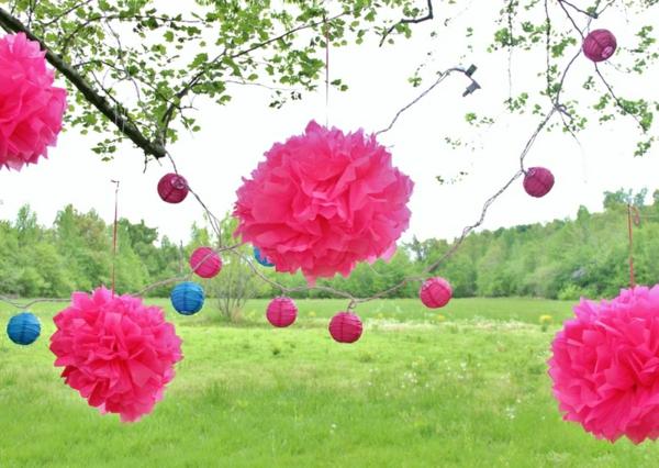 rosa-gartendeko-ideen-für-eine-faszinierende-party-im-garten