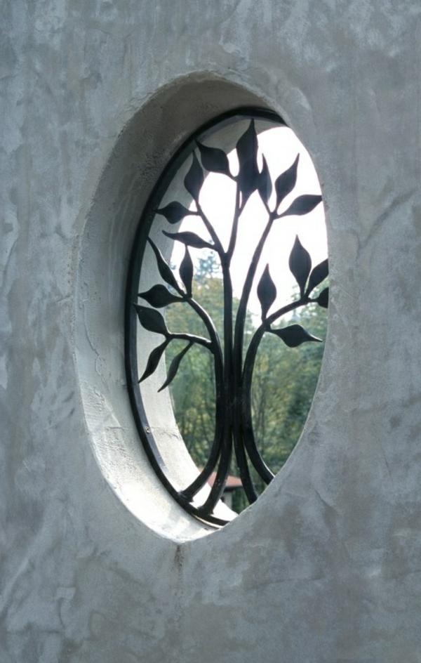 Fenstergitter sch ne ausf hrungen zum fensterschutz for Rundes fenster
