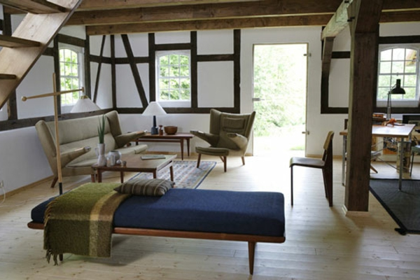 schwedisches Möbel - zimmer im landhausstil