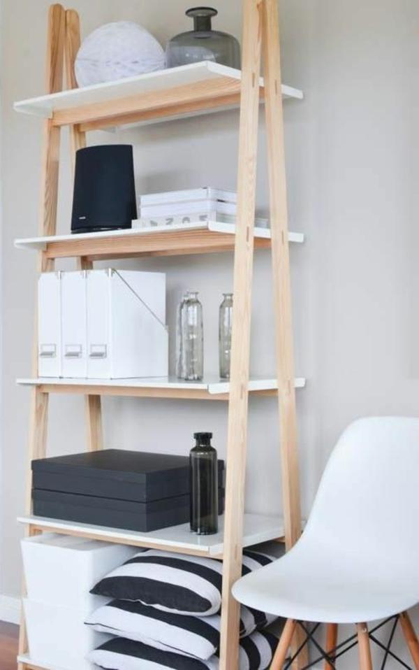 Die holzleiter als moderner teil des interiors for Ideen zur raumgestaltung