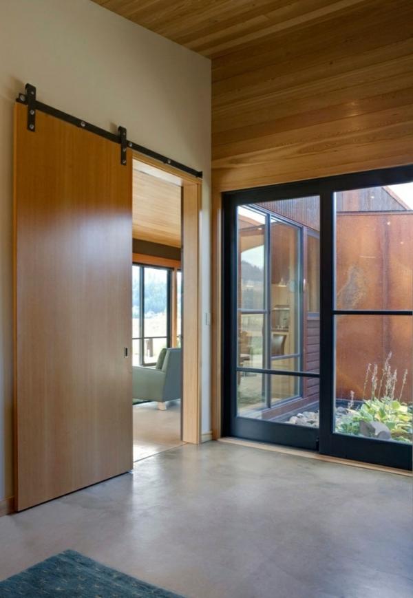 -schiebetüren-holz-moderne-innentüren-holz-gleittüren-design-idee